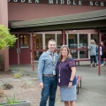 Middle school principals Michael Sweeten (Gardiner) and Lisa Normand (Ogden)