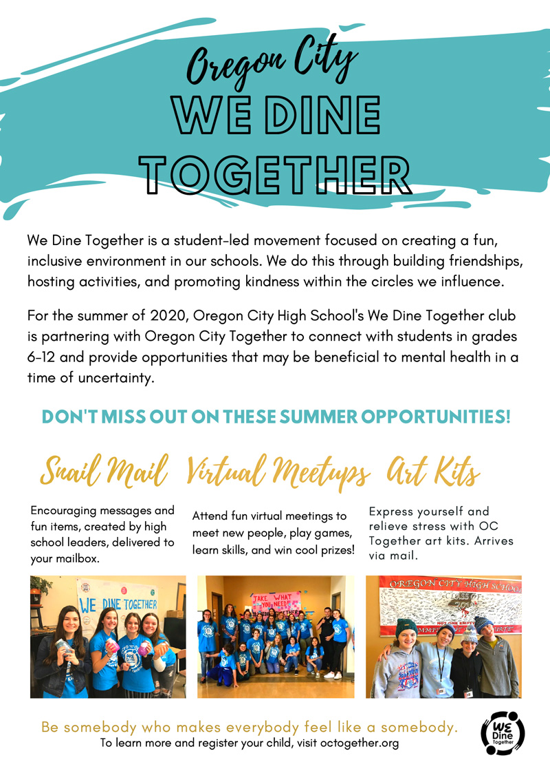 Click to view We Dine Together Flyer